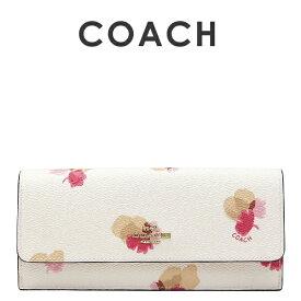 コーチ COACH レディース レディース 財布 長財布 53751 LIF2N(チョーク×フィールドフローラル 花柄)