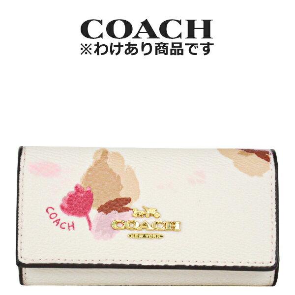 コーチ COACH レディース キーケース 65522 LIF2N(チョーク×フィールドフローラル 花柄)