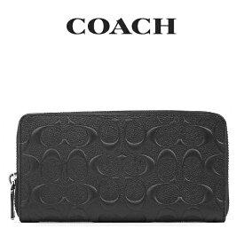 コーチ COACH メンズ 財布 ラウンドジップ長財布 長財布 F58113 BLK(ブラック)