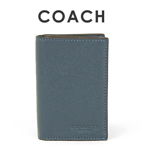 コーチ COACH メンズ カードケース 名刺入れ F86763 DDE(ダークデニム)