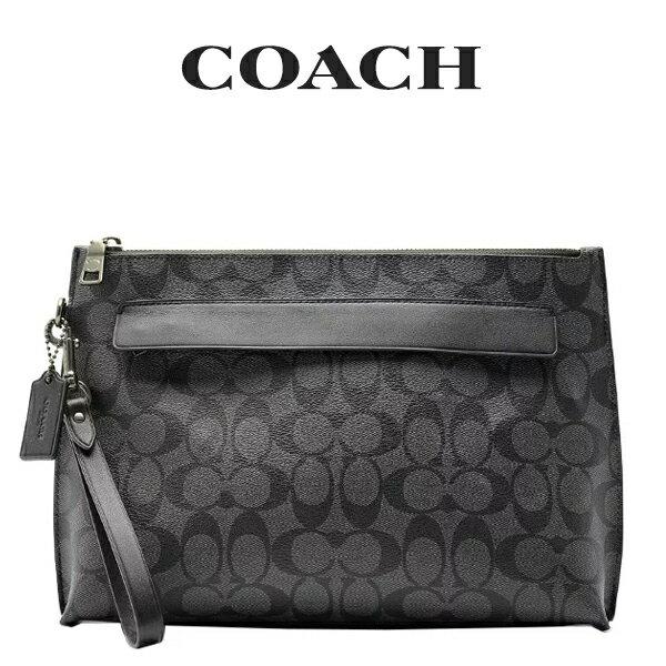 コーチ COACH メンズ セカンドバッグ F29508 CQ/BK(チャコール×ブラック)