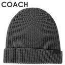 ★ 【メール便送料無料】 コーチ COACH メンズ 小物 ニット帽子 F86553 GPH(グラファイト)【在庫処分】