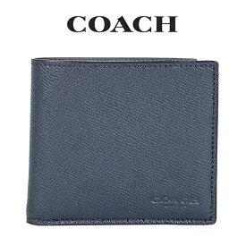 ★ コーチ COACH メンズ 財布 二つ折り財布 F59111 BHP(ミッドナイトネイビー)【FKS】
