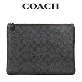 コーチ COACH メンズ バッグ セカンドバッグ F25520 N3A(ブラック×オックスブラッド) シグネチャー【FKS】