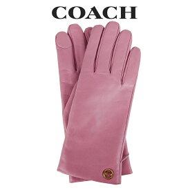 コーチ COACH レディース 小物 アパレル 手袋 (サイズ7/サイズ7H) F76310 ROS(ローズ) ピンク【FKS】