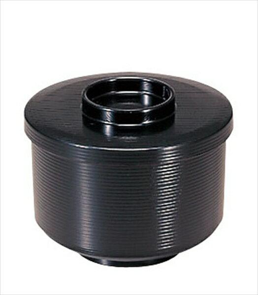 若泉漆器 千筋飯器 黒内朱 1−224−10 6-2204-1501 RHV49