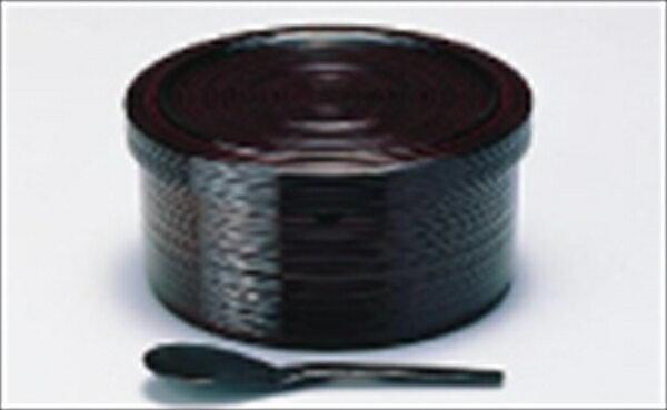 若泉漆器 千筋飯器 溜塗 2人用 1−230−17 6-2204-0402 RHV122