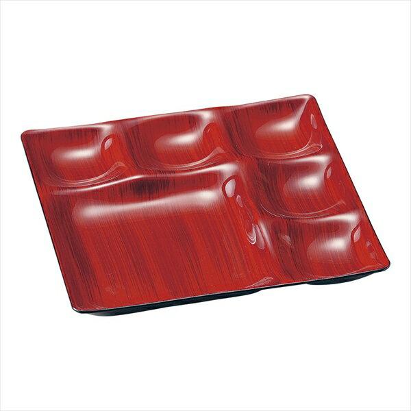 若泉漆器 Mー22ー46 ベガスプレート 赤茶刷毛目 6-2201-1201 RBG0101
