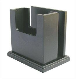 遠藤商事 木製 ナフキン&メニュー立 MN−035 黒 6-1806-2701 PNHG001