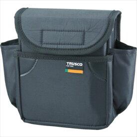 トラスコ中山(株) TRUSCO 小型腰袋 二段フタ付 ブラック [ TC52BK ]