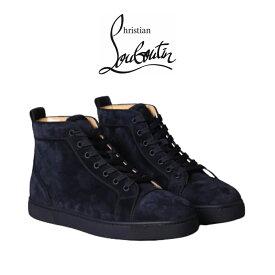 クリスチャン ルブタン 正規品 スニーカー Christian Louboutin Shoes Blue Men ブルースエード シューズ 靴 ハイカット メンズ ブランド おしゃれ 3161213[靴]