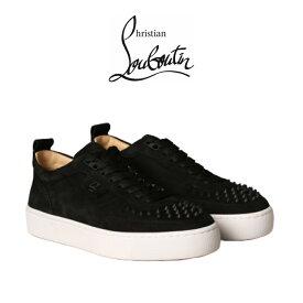 クリスチャン ルブタン 正規品 スニーカー Christian Louboutin Shoes Black Men ブラックスエード シューズ 靴 ローカット メンズ ブランド おしゃれ 1200520[靴]