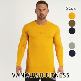 ヴァンキッシュ フィットネス 新作 VANQUISH FITNESS CORE MEN'S LONG SLEEVED T SHIRT 2 ロンT 長袖 Tシャツ メンズ 筋トレ ジム ウエア スポーツウェア イギリス 正規品[衣類]