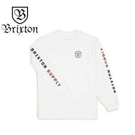 BRIXTON ブリクストン Oath Vi L/S Standard Tee - White/Rust ホワイト ロンT 長袖 Tシャツ バックプリント ロングスリーブ トップス メンズ ユニセックス スケーター ストリート