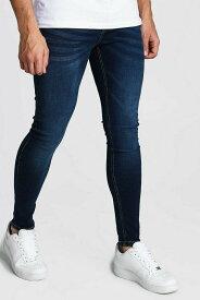 ブーフー boohoo Spray On Skinny Jeans WASHED INDIGO スキニーフィット デニム ウォッシュドインディゴ デニム ジーンズ パンツ メンズ イギリス asos[衣類]