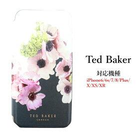 テッドベイカー Ted Baker ミラー付 手帳型 iPhone 6/6s 7 8 XR X/XS Case アイフォン ケース 二つ折 NEAPOLITAN ナポリタン [スマホケース]
