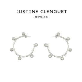 ジュスティーヌクランケ Justine Clenquet ポーラ ピアス Paula earrings 2個セット パラジウム レディース[アクセサリー]