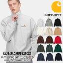 カーハート Carhartt WIP ハーフジップ スウェット グレー ブラック Half Zip American Script Sweatshirt クォーター…