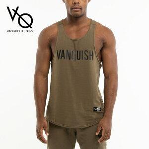 ヴァンキッシュ フィットネス VANQUISH FITNESS WARM UP PROJECT OLIVE TANK TOP オリーブ カーキ ノースリーブ タンクトップ トップス メンズ 筋トレ ジム ウエア スポーツ 正規品[衣類]
