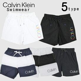 カルバンクライン Calvin Klein 水着 5種類 ボーダー ストライプ レインボー logo swim shorts ロゴ EVENING BLUE WHITE BLACK WHITE / Rainbow BLACK / Rainbow サーフパンツ 海パン ボードショーツ スイムウェア 小さいサイズ 大きいサイズ メンズ[衣類]