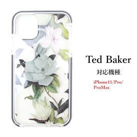 Ted Baker テッドベイカー ハードケース iPhone11 Pro ProMax アイフォン ケース 花柄 クリアケース 透明 OPAL オパール [スマホケース]