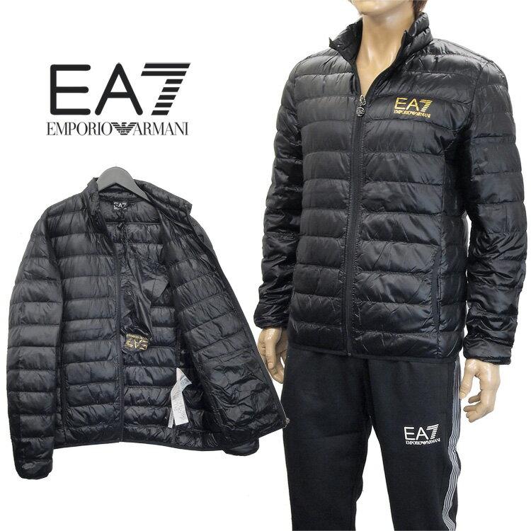 エンポリオアルマーニ EMPORIO ARMANI ダウンジャケット ライトダウン 8NPB01-PN29Z-0208 ブラック ゴールド【アウター】