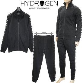 ハイドロゲン HYDROGEN セットアップ/スウェット 裾ジップ パンツ 上下セット 230606/230608-007 BLACK ブラック
