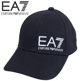 エンポリオアルマーニ EMPORIO ARMANI EA7 ロゴ キャップ ベースボールキャップ 275936-0P010-00120 ブラック