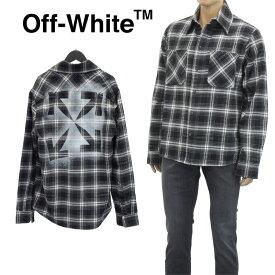 オフホワイト Off-White シャツ チェック アロー ステンシル フランネル/STENCIL FLANNEL OMGA133E20FAB001-1010