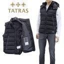 タトラス TATRAS ウール ダウンベスト ソヴェル MTAT20A4373-D SOVER-01 BLACK【アウター】