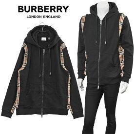 バーバリー BURBERRY ヴィンテージチェック ジップスウェット パーカー 8034510-A1189 BLACK