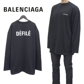 バレンシアガ BALENCIAGA DEFILE ロンT Tシャツ 長袖 ロンティー ティーシャツ カットソー オーバーサイズ ビッグサイズ 641667-TJVL4-1000