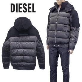 ディーゼル DIESEL ウール×ナイロン パデットジャケット A00566-0IAZN W-NYWOOL-5IT