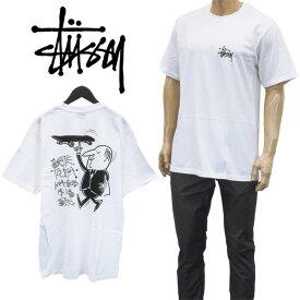 ステューシー STUSSY ウェイター/WAITER Tシャツ 半袖 バックプリント ティーシャツ カットソー 1904588-WHITE