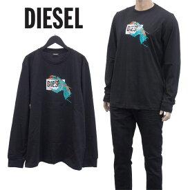 ディーゼル DIESEL ハンド ボックスロゴ ロンT Tシャツ 長袖 ロングスリーブTシャツ ロンティー ティーシャツ カットソー A01772-0HAYU T-JUST-LS-A1-9XX