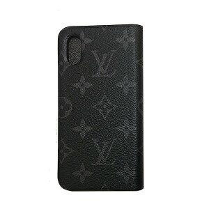 ≪新品≫ルイヴィトン iphone X 10 10S フォリオ モノグラムエクリプス 二つ折り スマホ 携帯ケース アクセサリー モバイル M63446 LOUISVUITTON ビトン 手帳型 ケースプレゼントラッピング