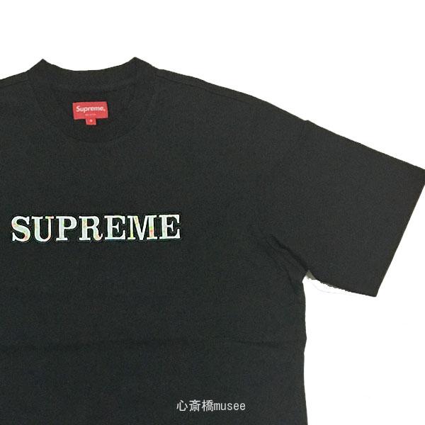 ≪新品≫ Supreme 18aw Floral Logo Tee Black S シュプリーム フローラルロゴ Tシャツ Sサイズ ブラック 黒