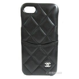 e4f7817c3f 新品≫CHANEL シャネル 19年クルーズ iphone7 8 携帯ケース A83563 黒×シルバー