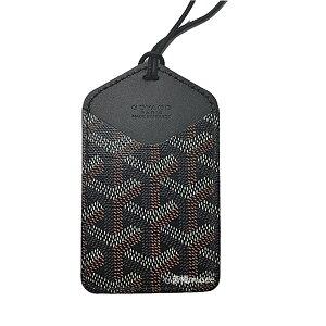 ≪新品≫ ゴヤール 紐付きカードケース シワズール CHOISEU パスケース 黒 ブラック 箱・リボンのラッピング
