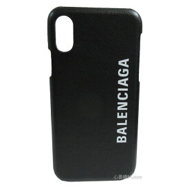 BALENCIAGA バレンシアガ iphone X XS 10 10S 携帯ケース アイフォーン 黒 ノワール カーフ Iphone スマートフォン スマホ ホワイト ロゴ モバイル アクセサリー 箱 リボン ショッパー ラッピング