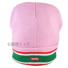 ≪新品≫ 16AW SUPREME Striped Cuff Beanie PINK シュプリーム ピンク ニット帽