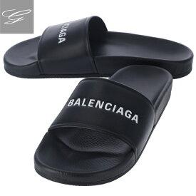 【20SS SALE】バレンシアガ/BALENCIAGA シューズ メンズ POOL サンダル NOIR/BLANC 春夏 530501-WAL00-1006【ロゴアイテム】
