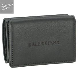 バレンシアガ/BALENCIAGA 財布 メンズ CASH MINI WALLET 三つ折り財布 GRIS ACIER 2020年秋冬 594312-1I313-1360
