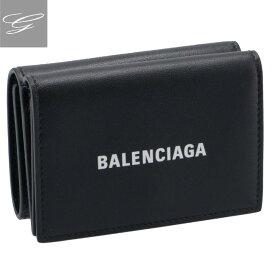 バレンシアガ/BALENCIAGA 財布 メンズ CASH MINI WALLET 三つ折り財布 BLACK 2020年秋冬新作 594312-1I353-1090