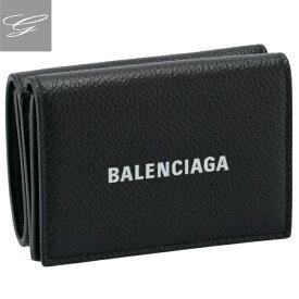 バレンシアガ/BALENCIAGA 財布 メンズ CASH MINI WALLET 三つ折り財布 BLACK 2020年秋冬新作 594312-1IZI3-1090