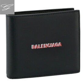 【★SALE★】バレンシアガ/BALENCIAGA 財布 メンズ CASH SQUARE WAL COIN 二つ折り財布 BLACK RED WHITE 2020年秋冬新作 594315-1I373-1065