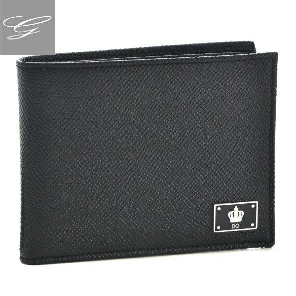 【アウトレット】ドルチェ&ガッバーナ/DOLCE&GABBANA 財布 メンズ 型押しカーフスキン 2つ折り財布 ブラック BP0457-AC967-80999