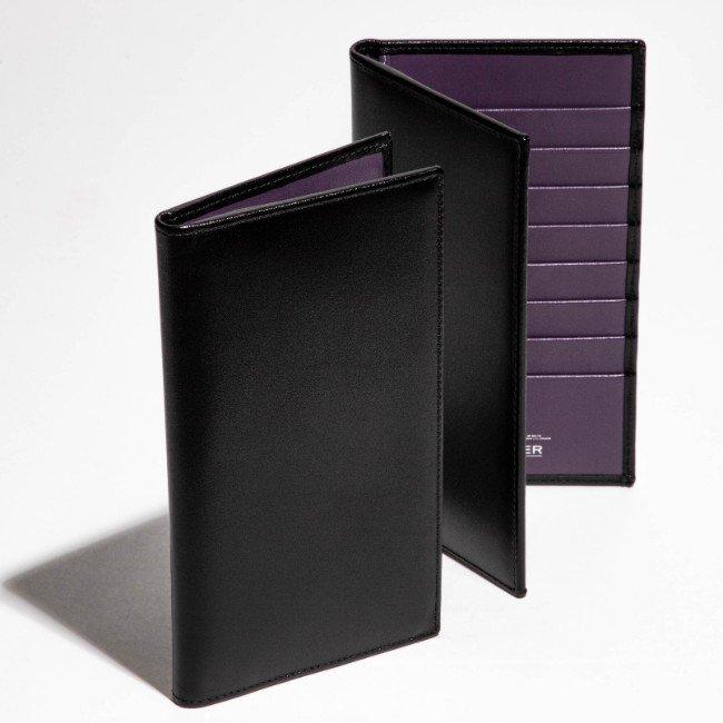 エッティンガー/ETTINGER 財布 メンズ STERLING 2つ折り長財布 ブラック×パープル ST806AJR-0002-0004