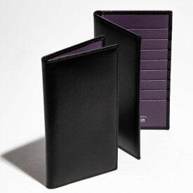 エッティンガー/ETTINGER 財布 メンズ STERLING 2つ折り長財布 ブラック×パープル 2019年春夏 ST806AJR-0002-0004