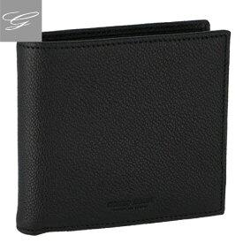 ジョルジオアルマーニ/GIORGIO ARMANI 財布 メンズ カーフスキン 2つ折り財布 BLACK 2019年春夏 Y2R122-YEM4J-80001